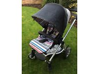 Mamas and Papas Sola Pushchair - Denim, suitable from Birth