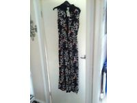 Black floral jumpsuit new