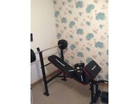 Maximuscle Weights Bench, 10 x Weights, Kettlebell & Punchbag