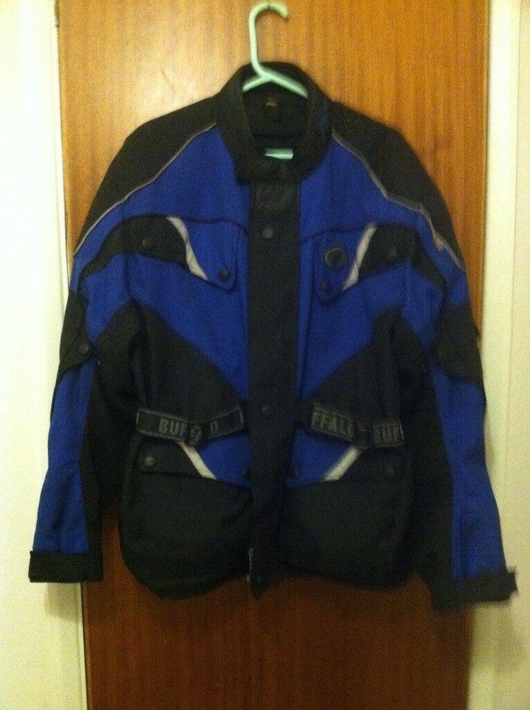 Buffalo Motorcycle Jacket Large Black/Blue