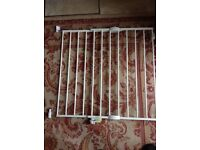 Mothercare stair gate in white