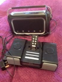 Bush DAB Radio and radio and iPod player and iPhone and iPod Player