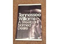 A streetcar named desire book plus York notes by Tennessee williams