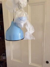 Small light blue lampshade, never used