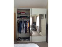All excellent condition four Wardrobes and large Double Wardrobe.