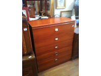 Chest - size L 33in D 17 in H 40 in 5 Drawer chest £50 Free Local Delivery.