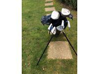 Golf clubs + bag for sale