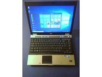 hp 6930p laptop intel core2duo 2.53ghz 4gb ram 160GB hd, win10