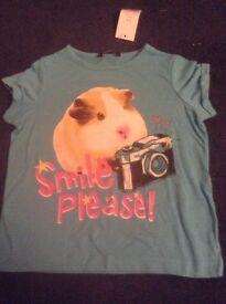 Girl's Tshirt Guinea Pig NEW age 5/6