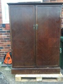 Old fashion wooden wardrobe