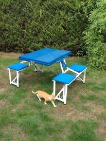 Fold away camping table & 4 seats