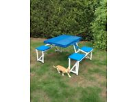 Fold away camping table & 4 seats