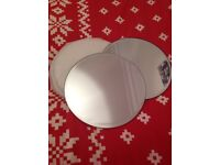 Mirror Plates Wedding decorations/Special occasion