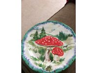 Anthropologie Mushroom Plate