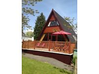 7 berth log cabin Haven holiday park Wales large private decking, full size beds great for adults