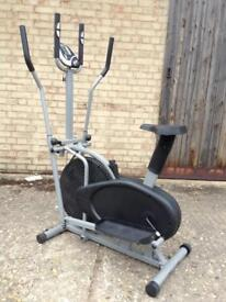SportComputer 2-in-1 Cross Trainer/Exercise Bike (Delivery Available)