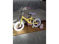 "Girls 12"" Apollo Daisy chain bike"