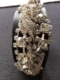 Black/silver Cuff Bracelet