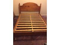 Double bed frame - dark pine