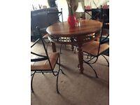 Beautiful dining table@ 4 chairs sheesham range, ex condition