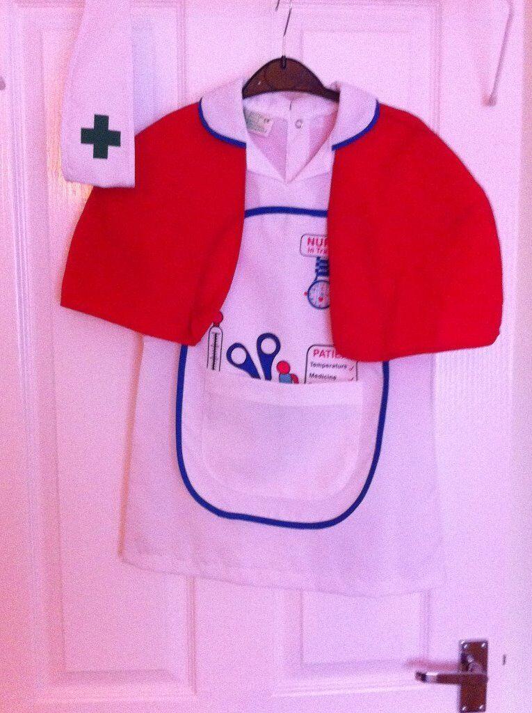 Fancy Dress - Girls ELC Nurses Dress Up Uniform