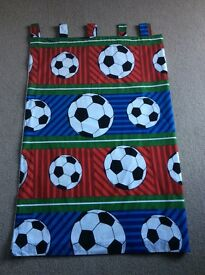 Boy football tab top blackout curtains