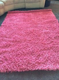Pink Sparkly Large Rug