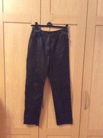 Ladies Brown Leather Trousers