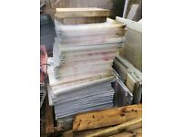 Polycarbonate off-cuts for cold frames