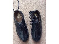 Men's black leather thistle brogues size 10 as new