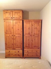 SOLID PINE BEDROOM FURNITURE BARGAINS, wardrobes, chest of drawers, dressing table etc