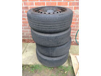 16 inch steel wheels with tyres