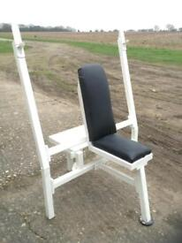 Military Press Bench with Spotter Platform (Delivery Available)