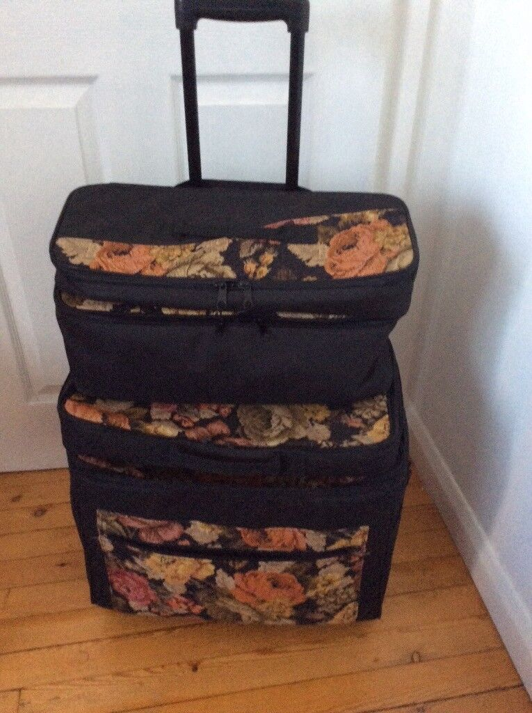 Sewing machine carrying trolley with 3top bags  5b87862f9be03