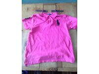 A Pink Ralph Lauren Polo Shirt - Large