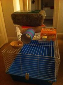 Guinea pig cage & supplies for sale £25.00