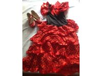 Girls flamenco dress and size 13 shoe