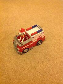 Paw Patrol Marshall vehicle and character