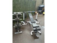 Olympic weights set - everything included