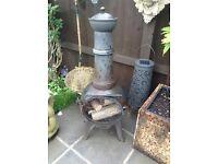Garden log burner chimney solid