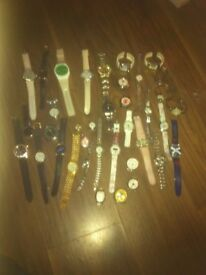 Large collection of watches