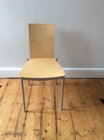 4 Ikea wooden stacking dining chairs ,good condition
