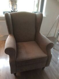 Next Grey Armchair with Footstool