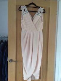 Nude colour tfnc dress size 12