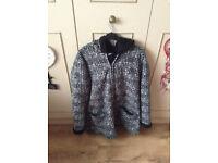Ladies black and white fleece jacket