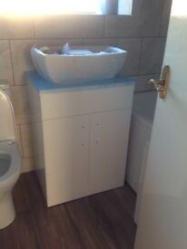 Brand new wash basin and vanity unit