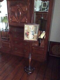 Victorian pole fire screen