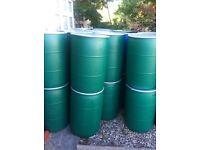 220L - 230L plastic barrels / drums with clamp tops