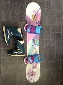 Women's Snowboard setup (and extras on sale)
