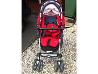 Jane Pro Stroller 4 wheel pushchair/buggy system with newborn car seat